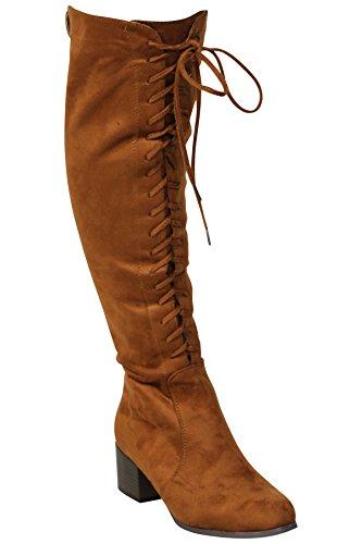 SheLikes, Damen Stiefel & Stiefeletten, braun - Camel - Größe: 36.5