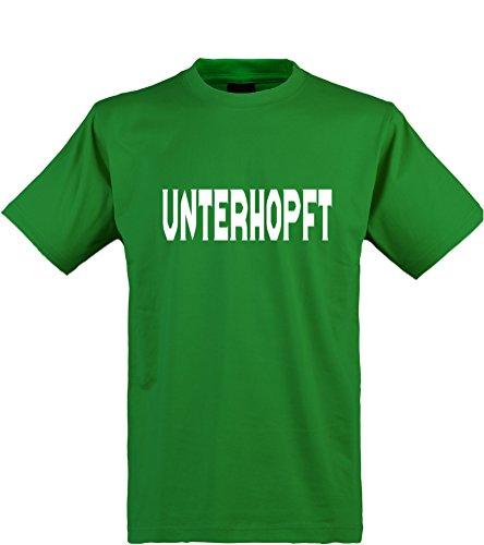 Klamottenkiste24 Herren T-Shirt, Unterhopft, grün, Gr. (Herr Maker Formen Kostüm)
