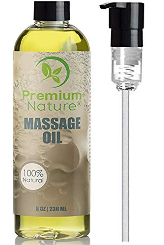 Massage Essential Oil Skin Therapy - 8 oz Grapefruit & Lemongrass Scent Natural Hypoallergenic Sensual Relaxing Oil - No Greasy Residue - Aromatherapy For Skin Muscles & Body - Premium Nature …