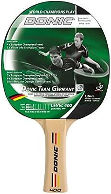 Schildkroet Funsports Donic Team Germany 400 Raqueta de Tenis de Mesa, Unisex Adulto, Multicolor, Talla Única