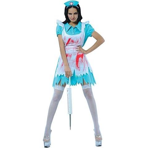 Halloween - Disfraz de enfermera para mujer, talla UK 10 - 12 (HF-5023. S)