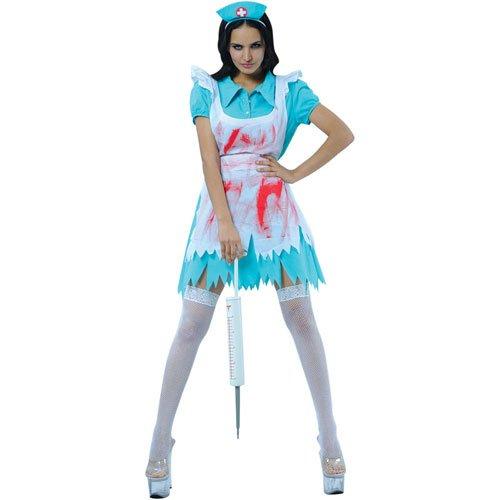 Frauen Ideen Kostüme (Blutrünstige Krankenschwester Horror Halloween Frauen Verkleidung Kostüm)