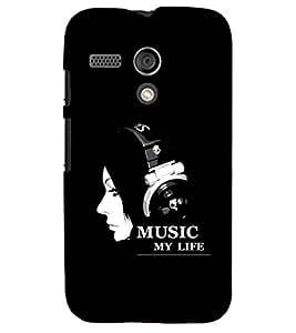 PRINTSHOPPII MUSIC Back Case Cover for Motorola Moto G X1032::Motorola Moto G (1st Gen)
