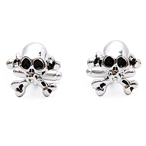 Ss Silver Tone Skull & Crossbones Cufflinks for Men  available at amazon for Rs.999