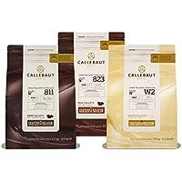 Callebaut, Dark, Milk & White Schokoladenstückchen (3 x 2,5kg Bundle)