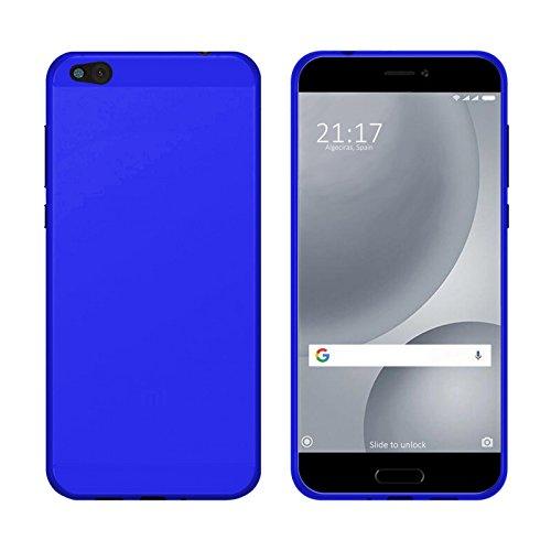 TBOC® Blau Gel TPU Hülle für Xiaomi Mi 5c - Mi5c (5.15 Zoll) Ultradünn Flexibel Silikonhülle