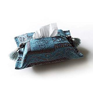 Artbisons Tissue Box Cover Luxury Tissue Box Holder/Dispenser (Blue, 11 x 7)