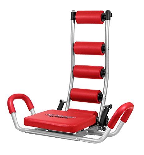 Fitness House AB Rocket Twister Aparato para Abdominales, Unisex Adulto, Rojo, Talla Única