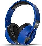 über Bluetooth - Funk - kopfhörer, der lärm die HiFi - anlage drahtloser kopfhörer mit mikrofon Band Kontrolle über das Ohr für alle geräte mit Bluetooth oder 3,5 mm Klinkenstecker,blau
