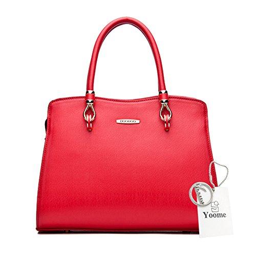 Yoome Top Handle Handtaschen Large Capacity Casual Taschen Für Frauen Crossbody Clutch Taschen Für Mädchen - Schwarz Rot