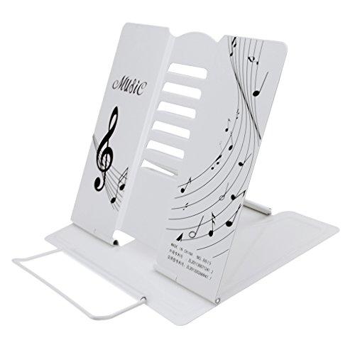 Rutschfeste Leseständer Buchständer Bookrest aus Metall faltbar Buchstütze Kochbuchhalter 6 Neigewinkeln verstellbar (Metallic-breite Schreibtisch)