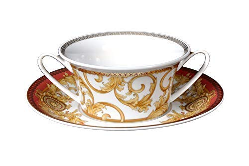 Versace Rosenthal Asian Dream Suppentasse 2- TLG, Creamsoup C/S, Paire BOL Bouillon, Taza Consome Cpl 17312
