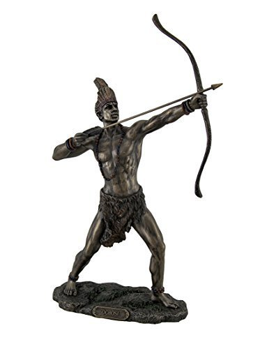 Bronzed Finish Ochosi Divine Hunter Orisha Statue by Zeckos