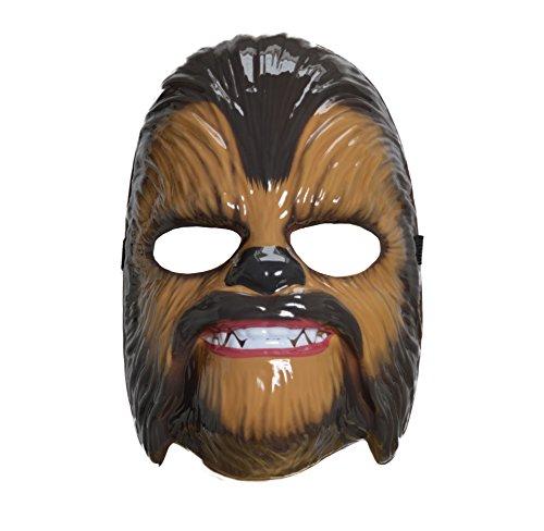 Star Wars The Force weckt Chewbacca Maske Spielzeug Wookie Kunststoff für Kinder (Herren Leder-junction-jacke)