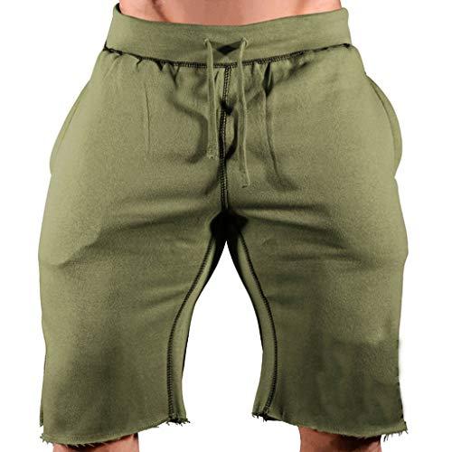 SANFASHION Herren Sport Joggen und Training Shorts Fitness Kurze Hose Jogging Hose Bermuda Elastische Taille Hosen