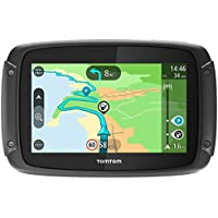TomTom Rider 420(Smart Display, Map Updates,  Sat-Nav with 48European Countries, Traffic updates, Camera Radar, Hands-Free Calling)Black