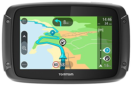 TomTom Rider 42 Navigationsgerät (Cleveres Display, Karten-Updates, Regional 19 Länder, Traffic-Update, Radarkameras-3 Monate, Freisprechen) schwarz