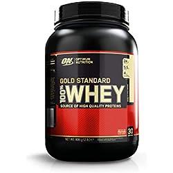 Optimum Nutrition Gold Standard 100% Whey Protéine en Poudre avec Whey Isolate, Proteines Musculation Prise de Masse, Vanille Crème Glacée, 29 portions, 908 g