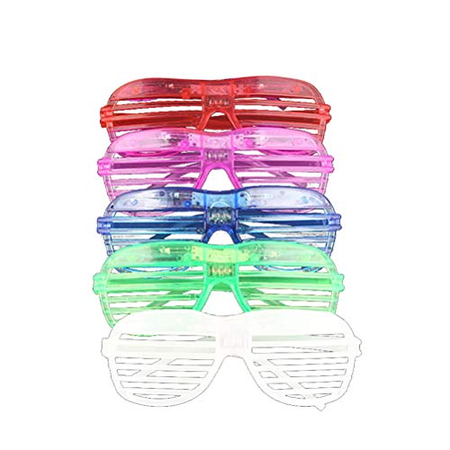 Toyvian 10 stücke Glow in The Dark LED Gläser Leuchten Gläser Neon Party Supplies Gefälligkeiten Sonnenbrille Shutter Shades Zubehör (Dark Partys In Zubehör The Glow Für)
