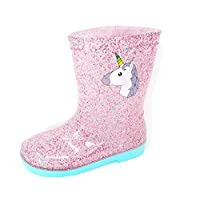 Carcassi Girls Sparkle Unicorn Wellies/Rain Boots
