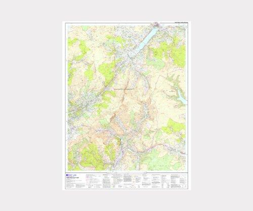 Explorer OL23 ~ Cadair Idris & Llyn Tegid ~ Ordnance Survey Laminated Wall Map (approx 95 x 125 cm)