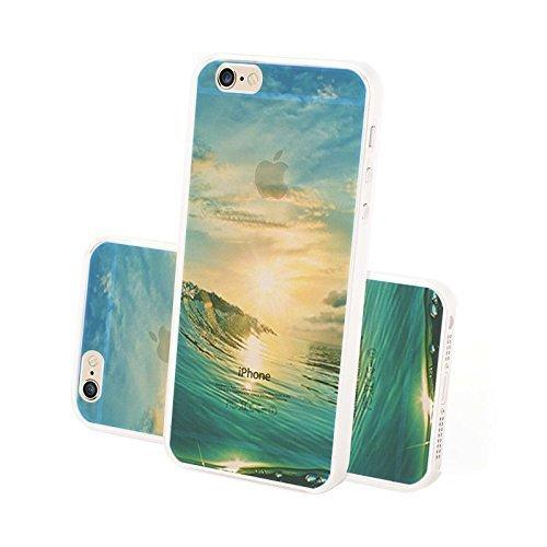 FINOO Custodia cellulare Trasparente Hardcase Paesaggi 4 - Paesaggio Invernale, iPhone 5/5S Tranquillo Acqua