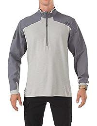5.11 Hommes Rapid Response Quarter Zip Shirt Storm