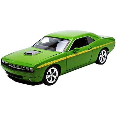 Modellino Auto 2009 Plymouth Cuda [Die Cast Promotions 50840], Verde, Scala 1:18 Die Cast - Plymouth Cuda