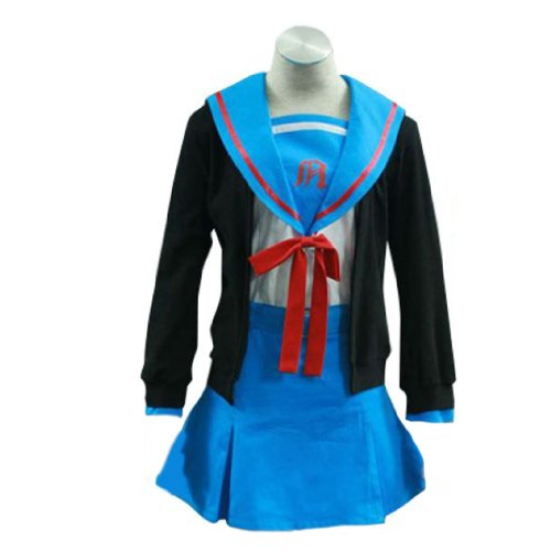 Yuki Kostüm Cosplay Nagato - Dream2Reality japanische Anime The Melancholy of Haruhi Suzumiya Cosplay Kostuem - Nagato Yuki School Uniform 1st Ver Kid Size Large
