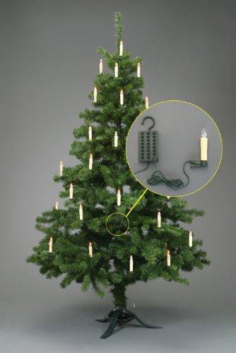 24 LED Weihnachtskerzen mit Stecksystem Innenbereich warm-weiß Trango TG340146