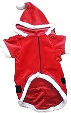 Petshop7 Santa Velvet Dog Coat / Dog Jacket Coat / Winter Pet Dog Clothes - (20inch (Large))
