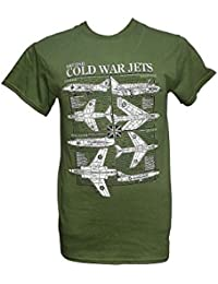 British Cold War Jet Planes - Aircraft / Military T Shirt with blueprint design