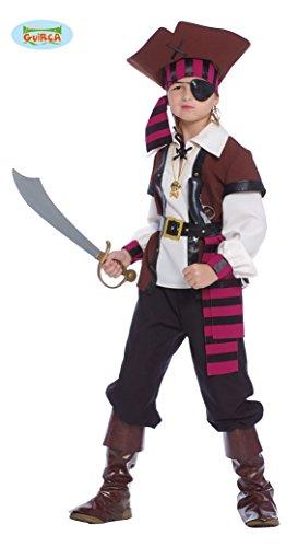 (Guirca Jack Sparrow Kostüm Pirat der Sieben Mari, Mehrfarbig, Kinder 10/12 Jahre, 85373)