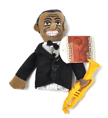 The Unemployed Philosophers Guild Louis Armstrong Finger Puppet and Refrigerator Magnet - for Kids and Adults