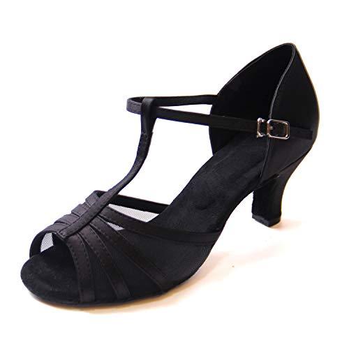 Jywmsc Damen Ballsaal Tanzschuhe Latein Salsa T-Strap Tanzen Schuhe