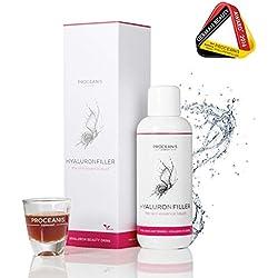 Hyaluron-Filler à boire/Anti-Age Beauty Drink à l'acide hyaluronique, cure 25 jours pour belle peau, 10ml par jour, végétalien, haute dose