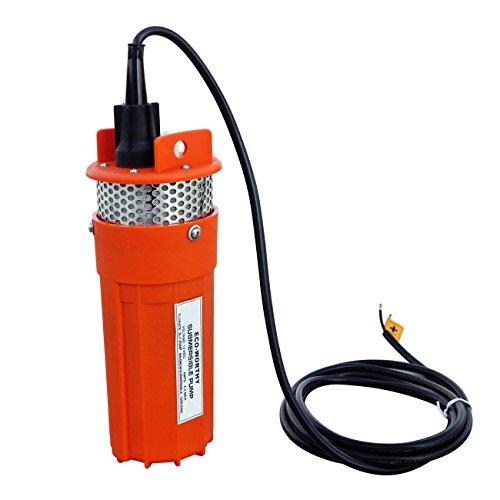 ECO-WORTHY 12V 230ft Deep Well Water Pump Wasserpumpe Pumpn for Terrasse Brunnen Home (Amp Filter Noise)