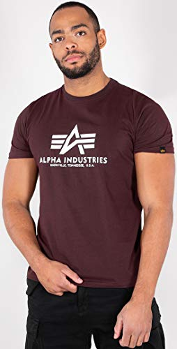 2xl T-shirt (Alpha Industries Herren T-Shirt Basic rot 2XL)
