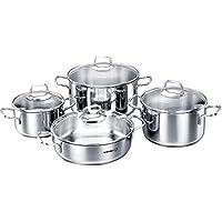 Korkmaz Perla Cookware Set of 8 Pieces C-MX-A1606