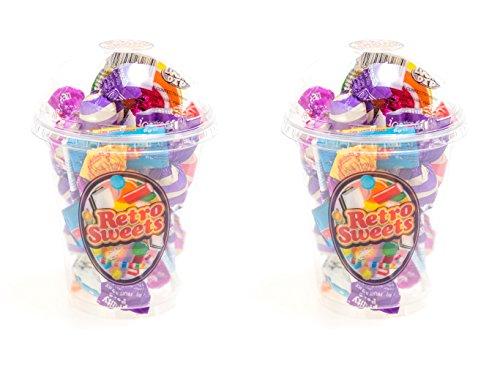 Jelly Nerds Beans (Doppelter Ärger! Beste britische Süßigkeiten !! 2x UK Retro süße Schalen !!)