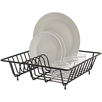 Small Compact 9 Plates Dish Rack Drainer Holder Chrome Plate Premier Colours Are Striking