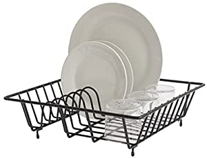 Bloomsbury Mill - Compact Dish Drainer - Plate Drying Rack - Anti-Rust - Black  sc 1 st  Amazon UK & Bloomsbury Mill - Compact Dish Drainer - Plate Drying Rack - Anti ...