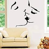 BARCN Stickers muraux Vente Kiss Stickers Muraux Décor À La Maison Décoration De Mariage Salon Chambre Art Mural pour Chambre Stickers Mural Papier Peint...