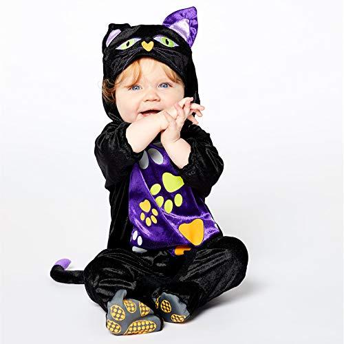 Katze Schwarz Kostüm Baby - Baby-Katze Schwarzer Kater Halloween Kostüm Baby Kleinkind
