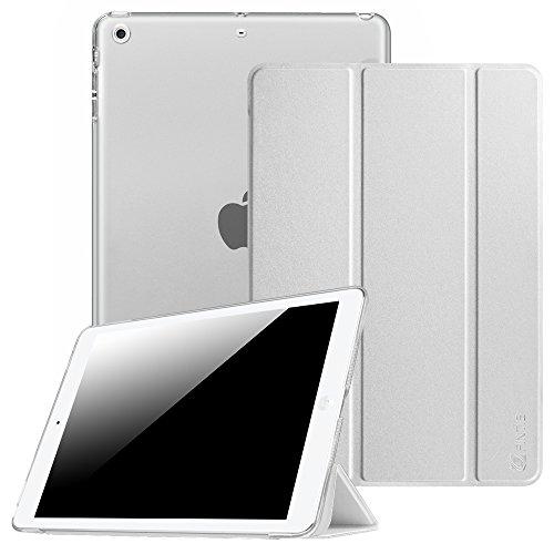 Fintie Hülle für iPad Air 2 (2014 Modell) / iPad Air (2013 Modell) - Ultradünne Superleicht Schutzhülle mit Transparenter Rückseite Abdeckung mit Auto Schlaf/Wach Funktion, Silber -