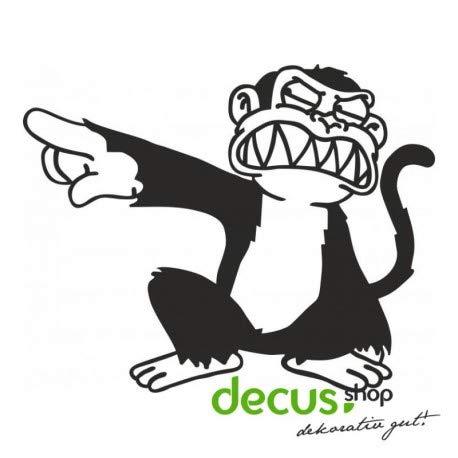 Decus Evil Monkey L 1800 // Sticker OEM JDM Style Aufkleber (weiß)
