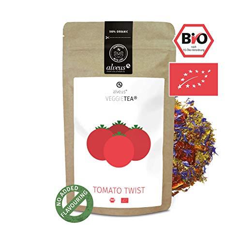 alveus® Tomato Twist Veggie Tea BIO Lose Teemischung mit getrockneten Tomaten, Thymian, Spitzwegerich, Pfeffer, Basilikum, Tulsikraut, Kornblumenblüten, Weizengras, 100g Tüte