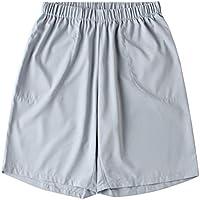 TENDYCOCO Pantalones Cortos Deportivos Casuales para Hombres Pantalones Cortos de Playa de Color Sólido de Moda