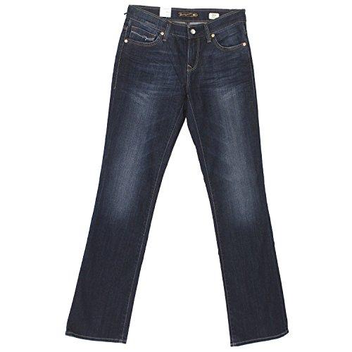 Mavi Damen Jeans Mona; 104972327 Mid Rise Straight Leg Dark Lux Royal Gr. 28/30 (Mid-rise Jeans Jeans Mavi)