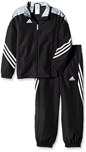 adidas Kinder Trainingsanzug Sereno 14,Top:Black/Silver/White Bottom:Black/White,164